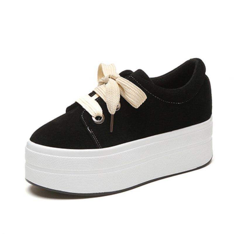 Hauteur Sneakers Les 2018 Croissante Femme Daim Noir Chaussures Appartements En Femmes Plate forme Pour Fermeture Automne kaki Cachée Casual Coins Glissière Talon À Hx686F4