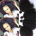 Estilo de Pelo Rizado Afro rizado mongol Rizado Pelo Virginal rizado 4 unids rosa queen productos para el cabello rizado de la armadura del pelo humano extensiones