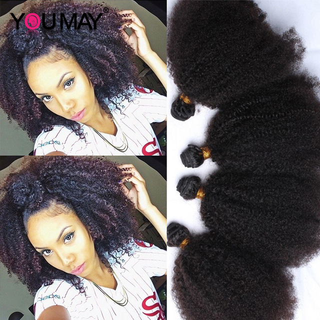 Mongolian Afro Kinky Curly Virgin Hair Style Kinky Curly Hair 4 Pcs