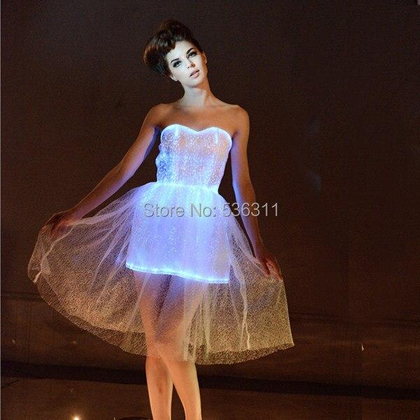 Online-Shop Mode vestidos rgb Licht Frauen Kleid Luminous Kleidung ...