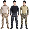USMC Military Uniform BDU Tactical Suit Hunting clothing Combat Shirt Pant Airsoft acessorios Paintball Equipment Gear