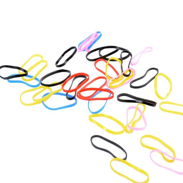 50x צבעוני גומי גומייה לשיער חבל גומיית ילדה ילד שיער להקת עניבת