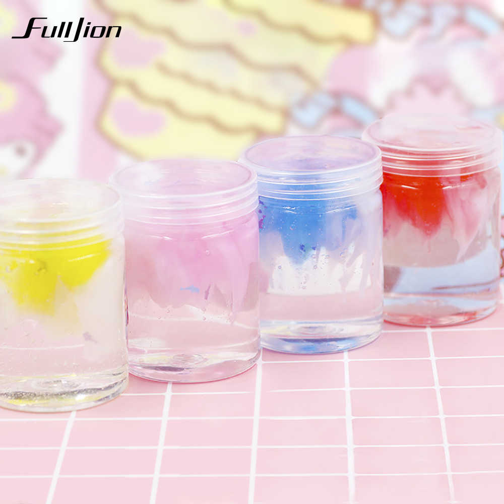 Fulljion cloud Slime Toys Plasticine Stress Relief Fluffy Clear Slime Box Handgum Putty Popular Funny Polymer Clay Supplies Toys