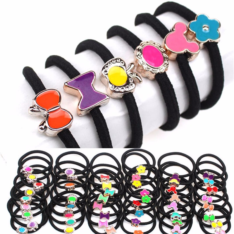 2016 Top Fashion New Solid Scrunchy Headband Girls Hair Elastic Bow Accessories Flower Bands Rubber Gum Ornaments 20pcs m mism new arrival korean style girls hair elastics big bow dot flora ponytail rubber hair rope hair accessories scrunchy women