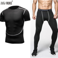 Brand Clothing Camouflage Mens Compression Sets Pants And Shirt Crossfit T Shirt Joggers Men Basketball Football