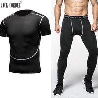 Mens Setleri Vücut Geliştirme Kamuflaj Sıkıştırma Gömlek ve Tayt Crossfit Egzersiz Egzersiz Cilt Sıkı T Shirt Marka Giyim