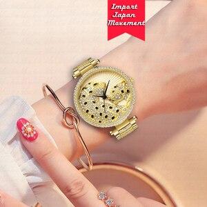 Image 5 - MISSFOX Women Watch Women Fashion Designer Brand Luxury Women Wrist Watch Gold Leopard Clouds Diamond Ladies Watch Quartz Clock