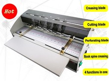 470mm Electric Paper Creaser Cutter Perforator Machine with Book Spine Crease Modules Multi-Functions стоимость