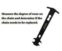 Bicycle Repair Tools Bike Chain Wear Indicator Tool Chain Checker Kits Multi-Functional Bike Repair Tools Bicycle Accessories