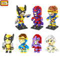 LOZ Marvel Super Hero X-Men Diamond Building Blocks Cyclops Magneto Wolverine Storm Figures 3D Bricks Early Educational toys