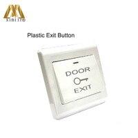 10PCS/lot E17B plastic exit button plastic swith for single door access control system