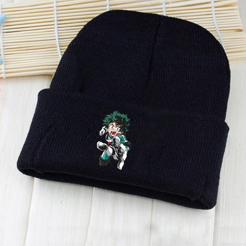 Anime  Fairy Tails Cosplay Black And Pink Knitted Hat  Costume Accessory Gift With  Fairy Tails Logo