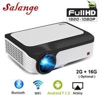 Salange P30 FULL HD 1080 P проектор Android 7.1.2 WI FI Портативный светодиодный мини проектор 1920x1080 видео проектор для Iphone смартфона