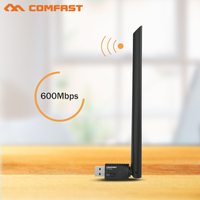 Bán Hot COMFAST 2.4 Gam & 5.8 Gam 600 Mbps USB WIFI adapter 5 Ghz 802.11ac adapter wifi Comfast Cf-CF-916AC wi-fi Mạng LAN Card Adaptor