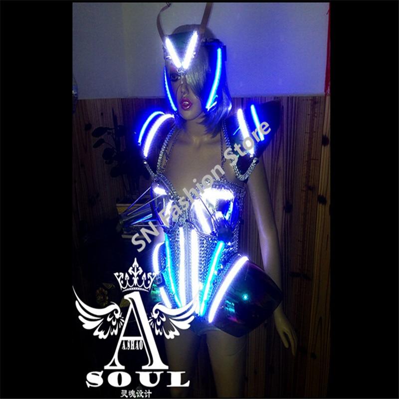 WX12 Cantante frío fuegos artificiales Plata espejo ropa baile - Para fiestas y celebraciones - foto 5