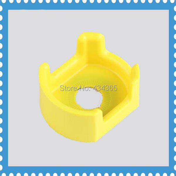 10pcs 22MM yellow plastic  emergency stop push button switch protective cover/guard onpow 16mm red led light 1no1nc plastic emergency stop push button switch las1 by 11tsa r 12v ip40 ce ul rohs