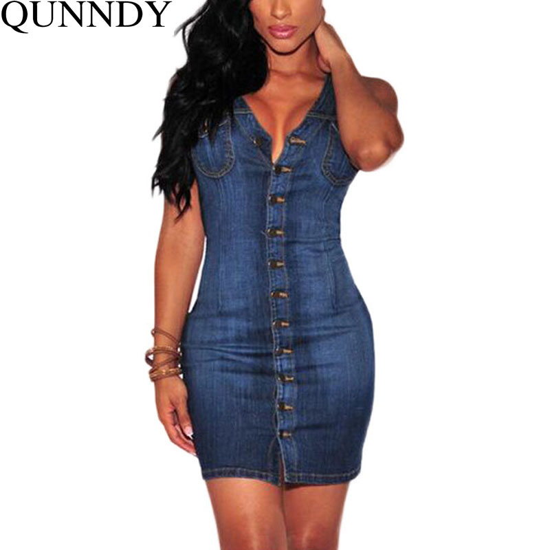 Plus Size Women Clothing 2016 Denim Dress Vintage Summer ...