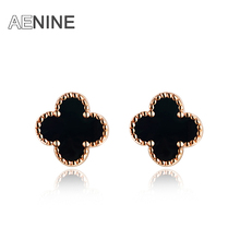 AENINE European Style New Arrival Genuine Austrian Crystal Flower Stud Earring For Women Trendy Earrings Christmas E150240130R