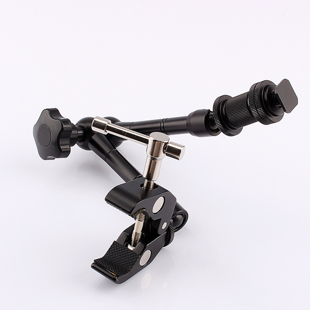 New 11 Adjustable Friction Articulating Magic Arm + Super Clamp For DSLR LCD Monitor LED Light Camera Accessories
