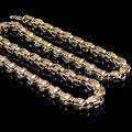 Винтаж ожерелье мужчин ювелирные изделия цепи 2016 новый византийский греческий ключ из нержавеющей стали ожерелье для человека 60 см * 8 мм рождественский Подарок WN513