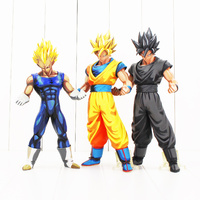 3Styles 25 27cm Chocolate Son Goku Black Gokou Vegeta Figure Toy Dragon Ball Z Super Saiyan