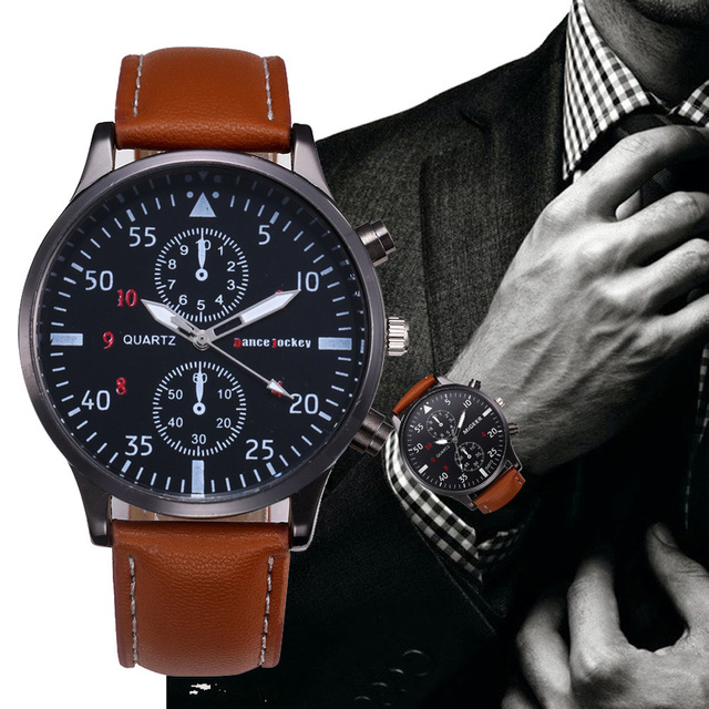 c48a3a22d6 2018 Fashion Casual Mens Watches Luxury Leather Business Quartz Watch Men  Military Sport Wristwatch Relogio Masculino-in Quartz Watches from Watches  on ...