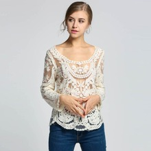Women Long Sleeve Lace