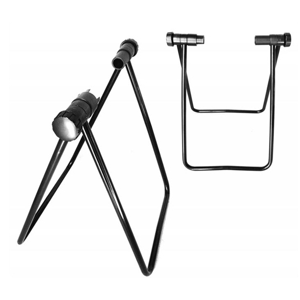 U type Cycling Support Bracket Adjustable Stand Side Bracket Fixed Gear Bicycle Alloy Parking Frame Bike Repair Rack Bicycle Repair Tools     - title=