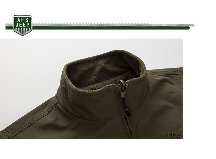 2015 Autumn Spring Casual Men Vest Coat Fleece AFS JEEP Cotton Multi Pocket 4XL Cargo Outdoor Sleeveless Jackets Waistcoat Vests (12)