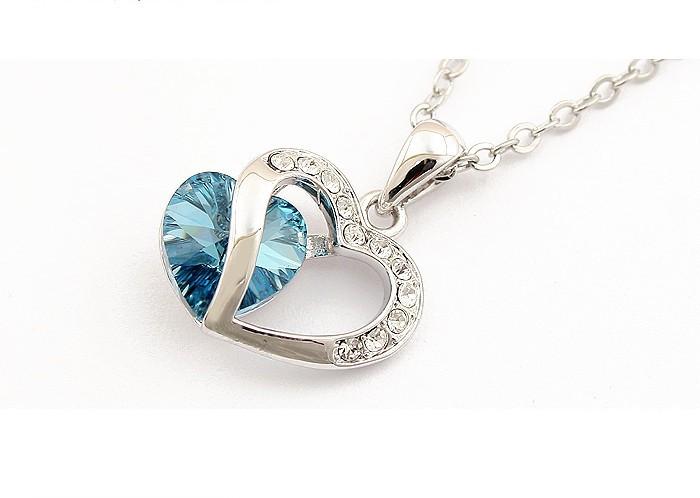 bebella 11 цветов кристалл VA сердце ожерелье с элементами Сваровски для 2017 rods подарок