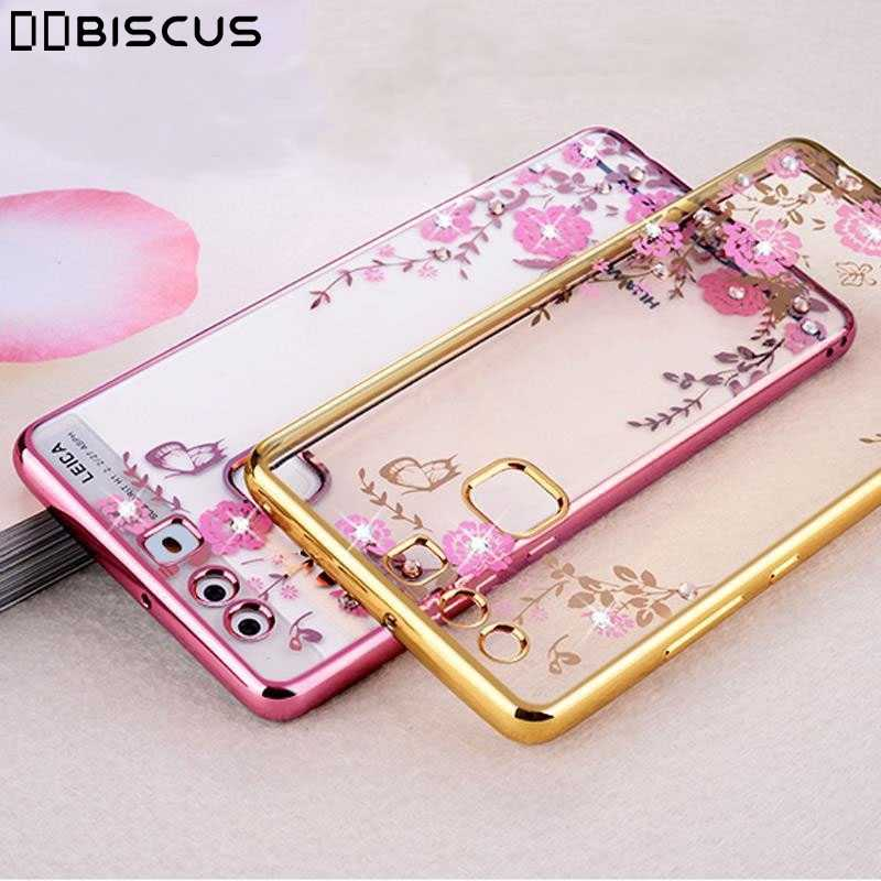 Back Flower Edge Plating TPU Cover For Huawei Honor 6A 6X 7X 8X 8C 8A 6C 7A 7C Pro 8 9 Lite Mate 10 20 Y5 Y7 Prime 2018 Y9 Case