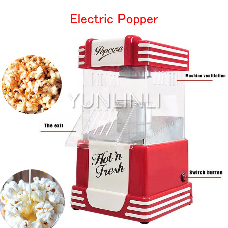Electric Popcorn Maker Household Popcorn Popper Hot Air Popcorn Machine with Switch Control JH019 pop 08 commercial electric popcorn machine popcorn maker for coffee shop popcorn making machine