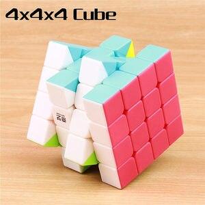 Image 4 - QIYI cube magique warrior 3x3x3 vitesses, cube puzzle professionnel sans autocollants, jouets éducatifs lisses, 4x4x4x5x5