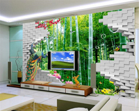 beibehang scale custom advanced wallpaper 3D stereoscopic creative fashion bamboo forest HDTV background wall papel de parede