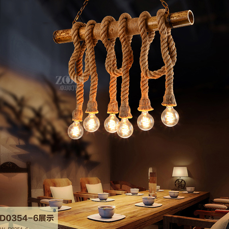 SINFULL ART Vintage Bar Cafe creative pendant light personality loft American Restaurant Wood minimalist suspension rope Lights sinfull loft american personality ceiling lights vintage electric fan ceiling lighting e27 bulb lamp bar cafe lamps hot sale