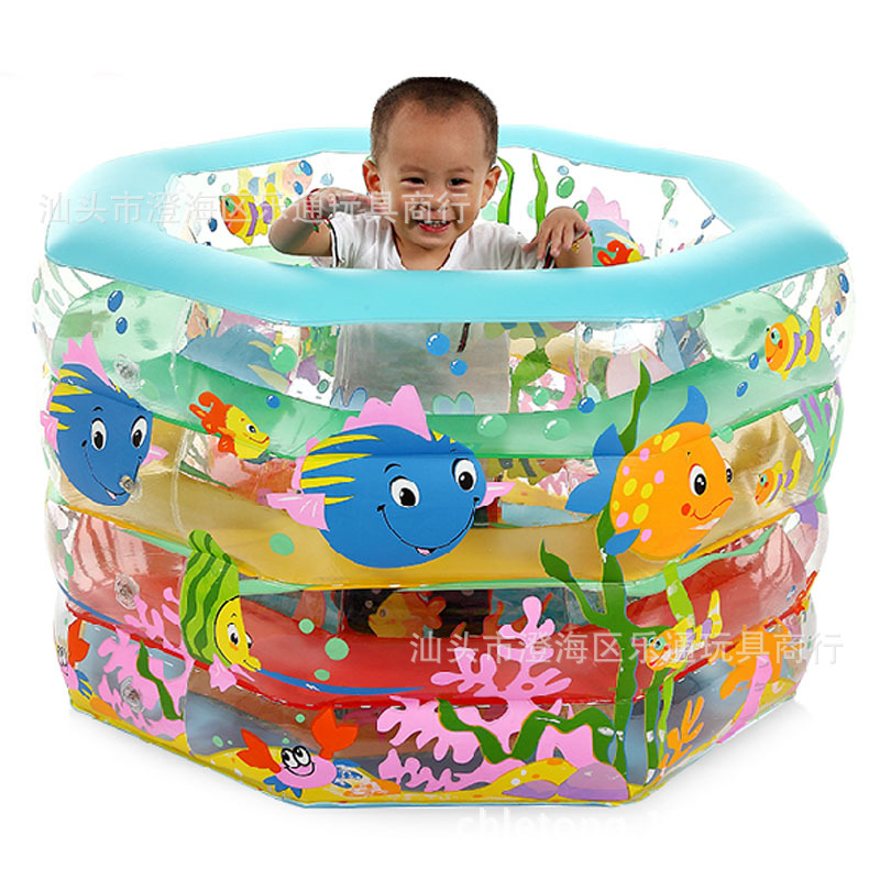 Kid Bathtub Baby Swimming Pool Gift Cartoon Rectangular Inflatable Mattress Boat Pvc Swimming Pool inflatable rectangular pool 1piecespa pool bathtub pump 1 1kw 1 50hp tda150