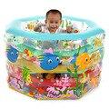 Kid Bathtub Baby Swimming Pool Gift Cartoon Rectangular Inflatable Mattress Boat Pvc Swimming Pool inflatable rectangular pool