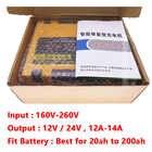 Chargeur de batterie de voiture 12V 24V Portable Type de réparation d'impulsion Intelligent 12A batterie au plomb automatique rapide intelligente charge automatique de puissance - 5