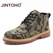 6bb81f185 JINTOHO Moda Inverno Botas De Couro Dos Homens Casuais Da Marca Dos Homens  Sapatos de Inverno de Trabalho & Botas De Segurança B..