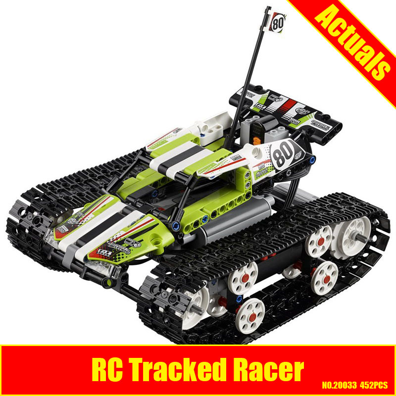 New Lepin 20033 Technic Series The RC Track Remote-control Race Car Set Building Blocks Bricks Educational Children 42065 Toys glow race track bend flex glow in the dark assembly toy 112 160 256 300pcs slot race track 1pc led car puzzle educational toys