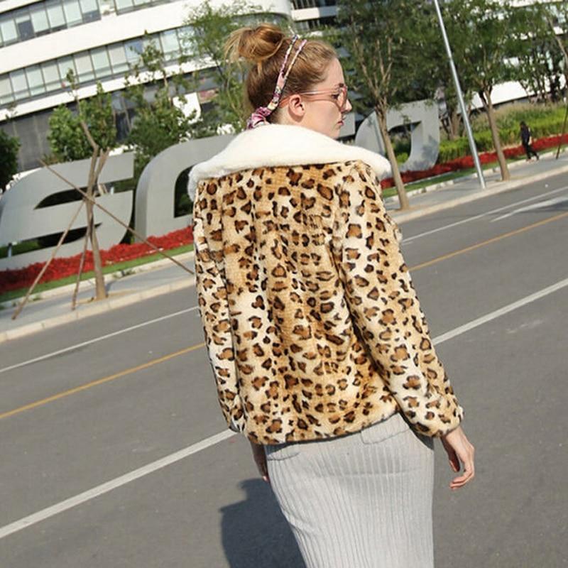 Tournent Imprimé Léopard Nouveau Automne Le Bas Hiver De 5xl Leopard Manteaux La Plus 6xl Femme 2017 Court Faux Femmes Taille En Fausse H103 Vers Fourrure 4xl 5wqIXPqrx