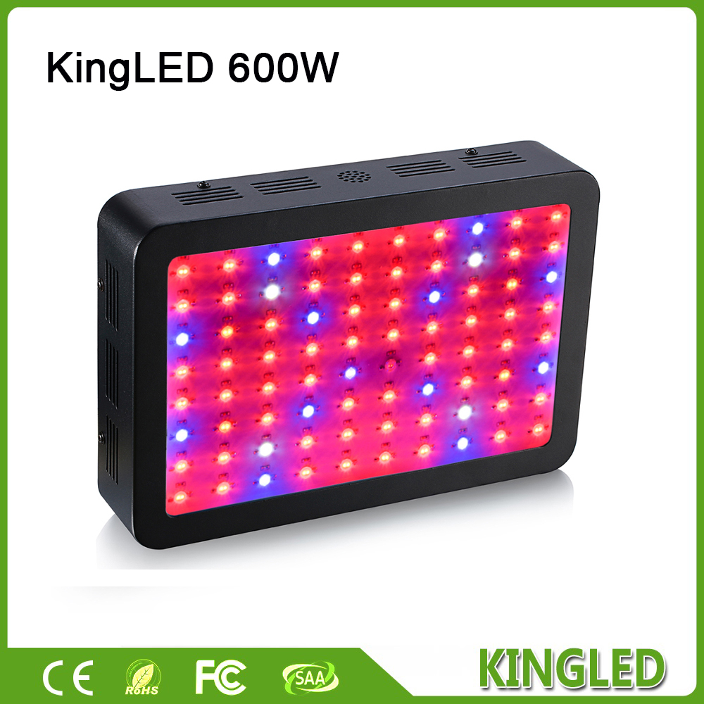 King plus Black 600W Double Chips LED Grow Light Full Spectrum 410-730nm For Indoor Plants and Flower Phrase Very High Yield. russian phrase book