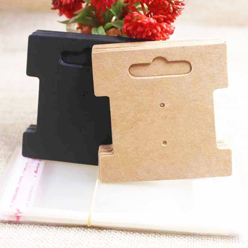 Zerong DIY Paper Hair Accessoreis Display Tag Card ,kraft/black/white Hair Band Package Card Jewerly Tag 100pcs+100oppbag