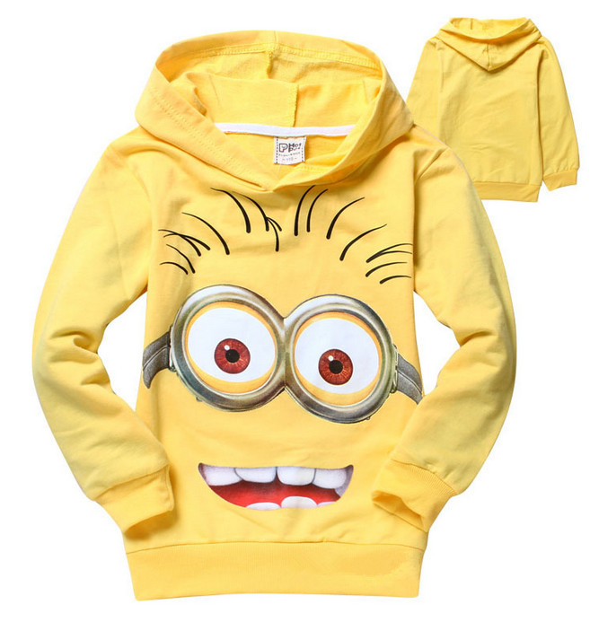 Free shipping despicable me minions children boys Sweater Clothes for spring autumn warm kids sweater clothing