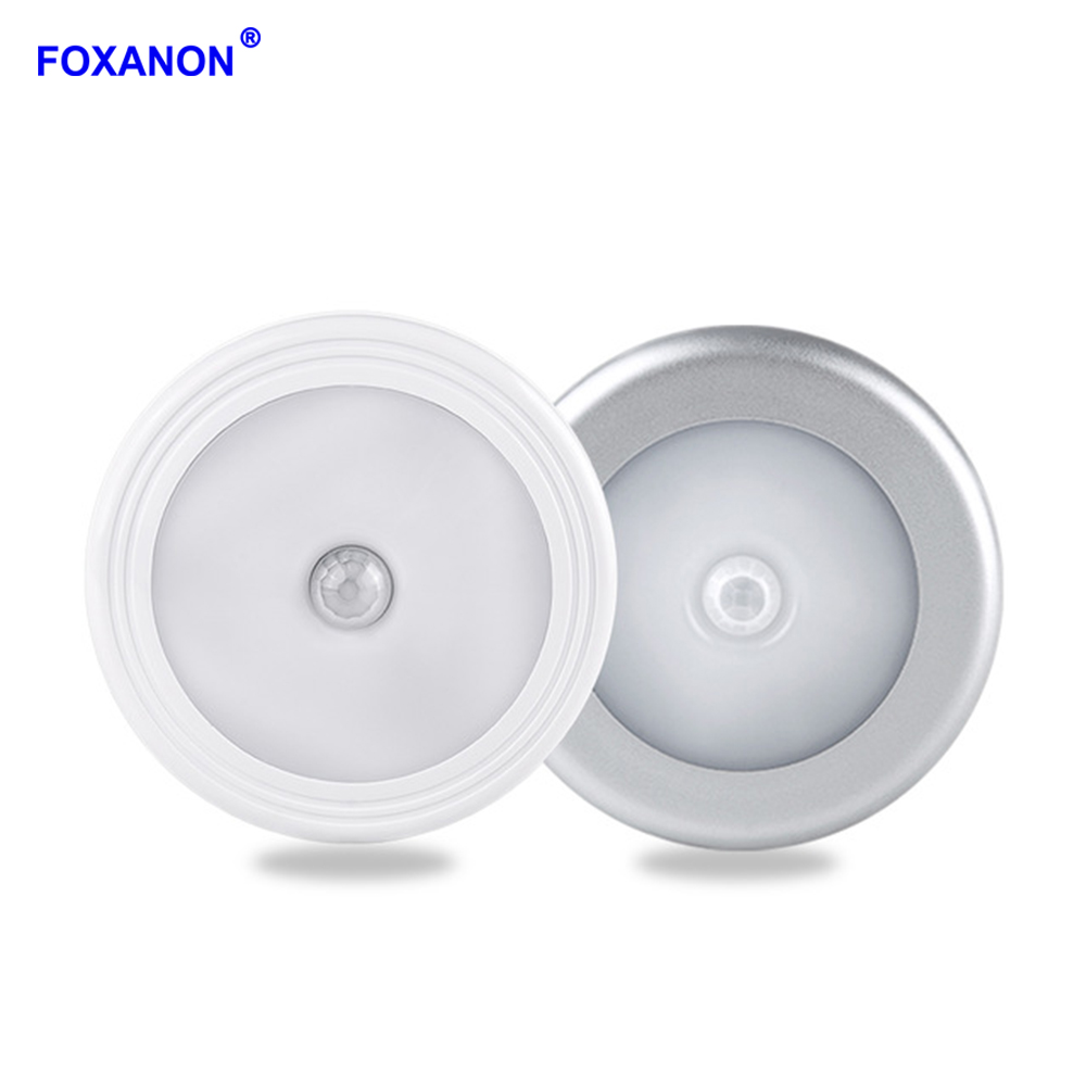 New 1pcs Light With 6 Led Wireless Pir Motion Sensor Light Wall Cabinet Wardrobe Drawer Lamp Battery Careful Calculation And Strict Budgeting Furniture