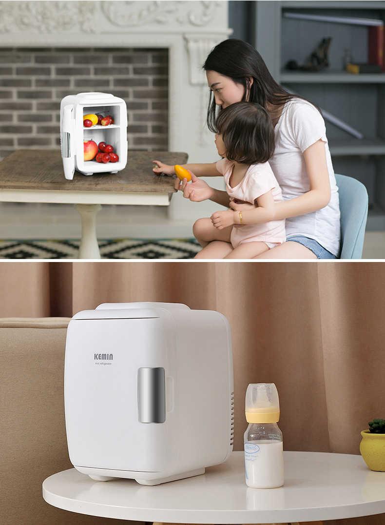 Xách tay 4L Mini Xe Tủ Lạnh Tủ Lạnh 12 V/220 V Xe Nhà Tủ Đông Nhỏ Frigo  Nevera Hộp Đựng Nước Đá Buzdolab Frigobar 