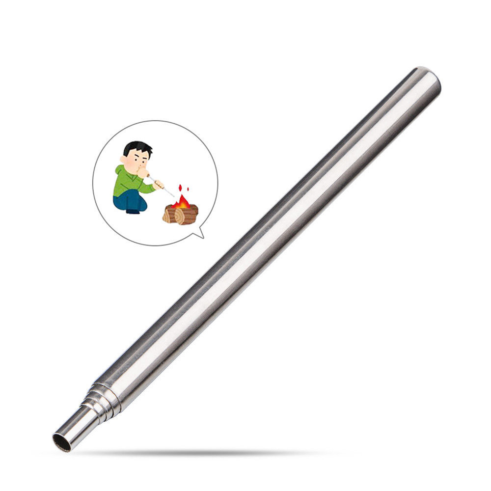 Collapsible Fire Tool Pocket Bellows Telescopic Hand Tool For Outdoor Camping Cooking Hiking protecting cooking by hand