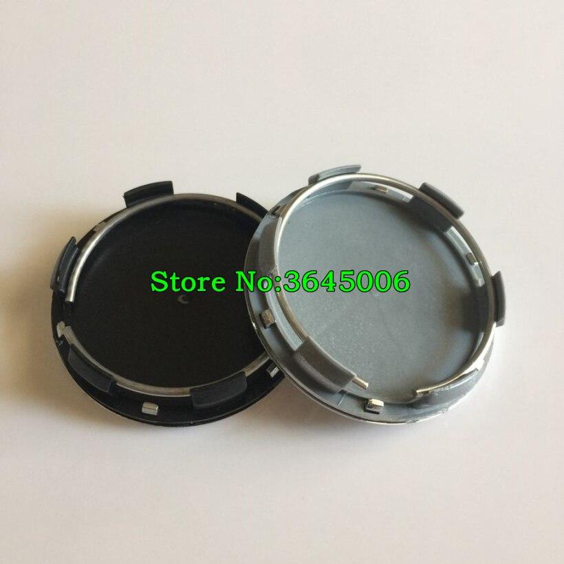 100pcs 60mm New Model Wheel Centre Hub Caps Silver Black Car Styling By DHL