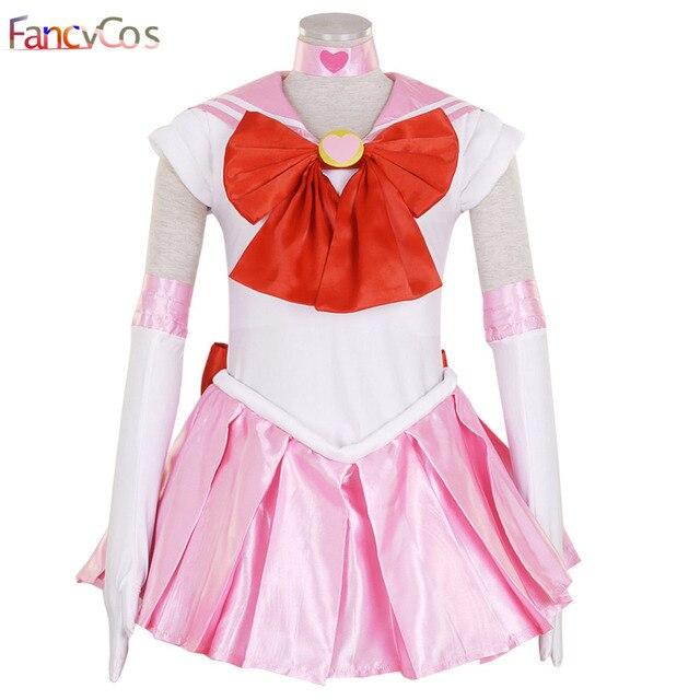 024a5080d Halloween New Sailor Moon SM Sailor Chibi Moon Chibiusa Dress Adult Kid Cosplay  Costume High Quality Custom Made