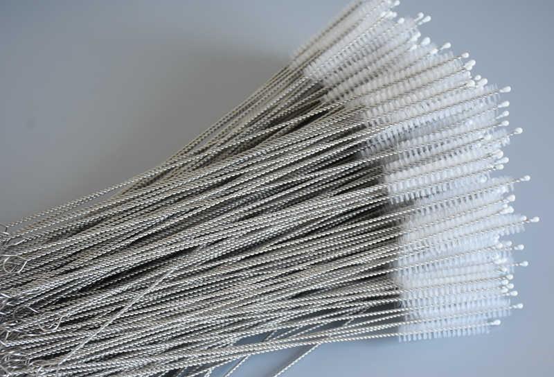 Бесплатная доставка 50 шт/партия хорошего качества утолщенный набор щеточек из нержавеющей стали подходит для 8 мм диаметр соломинки длина 260 мм